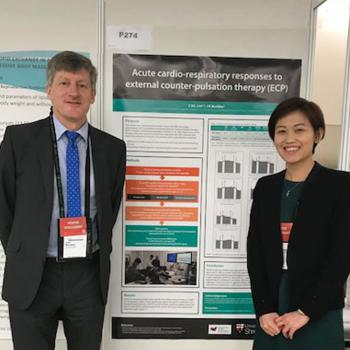 Professor John Buckley and Cindy Lim at the Congress.