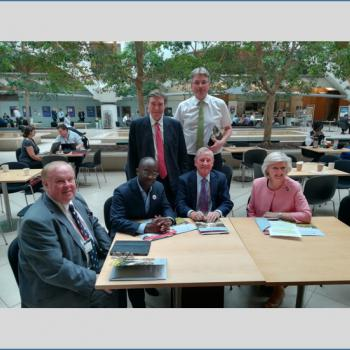 UCS leaders and Shropshire MPs with the Minister of State for Universities, Science, Research and Innovation, Sam Gyimah.