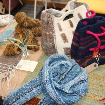 A stall from a previous Textile Stories Study Day.